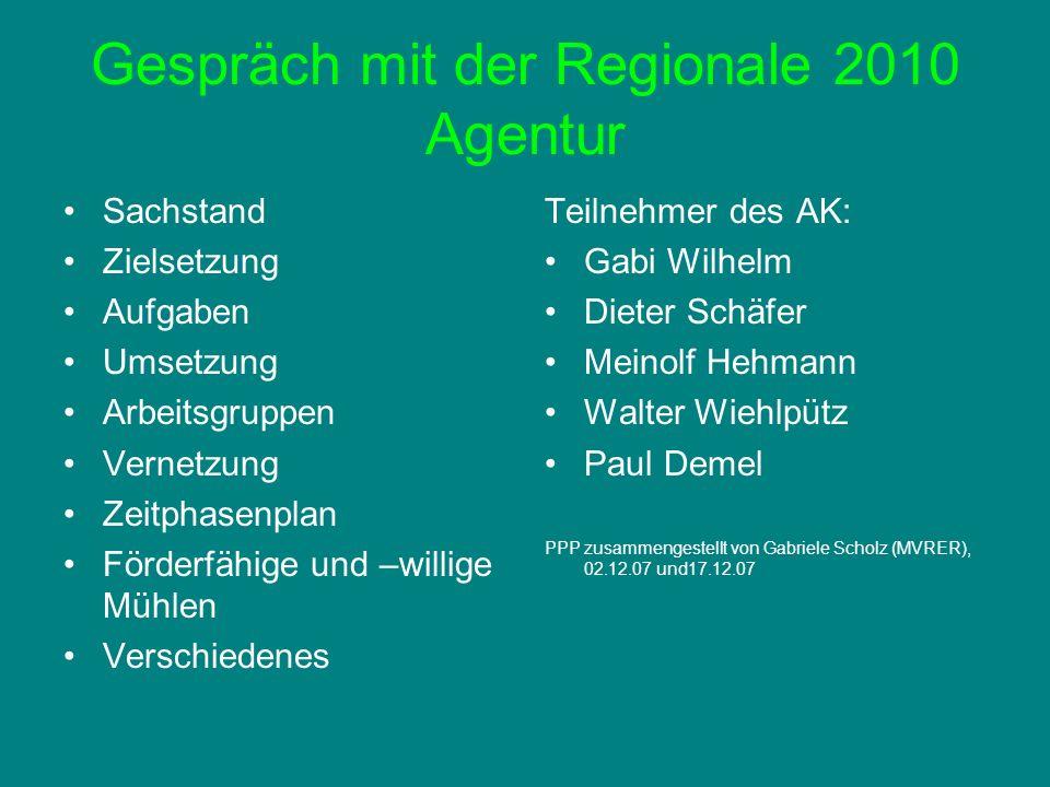 Gespräch mit der Regionale 2010 Agentur