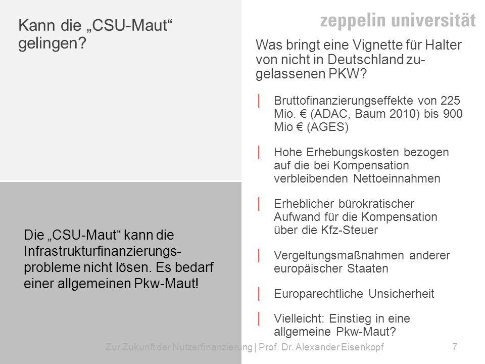 """Kann die """"CSU-Maut gelingen"""