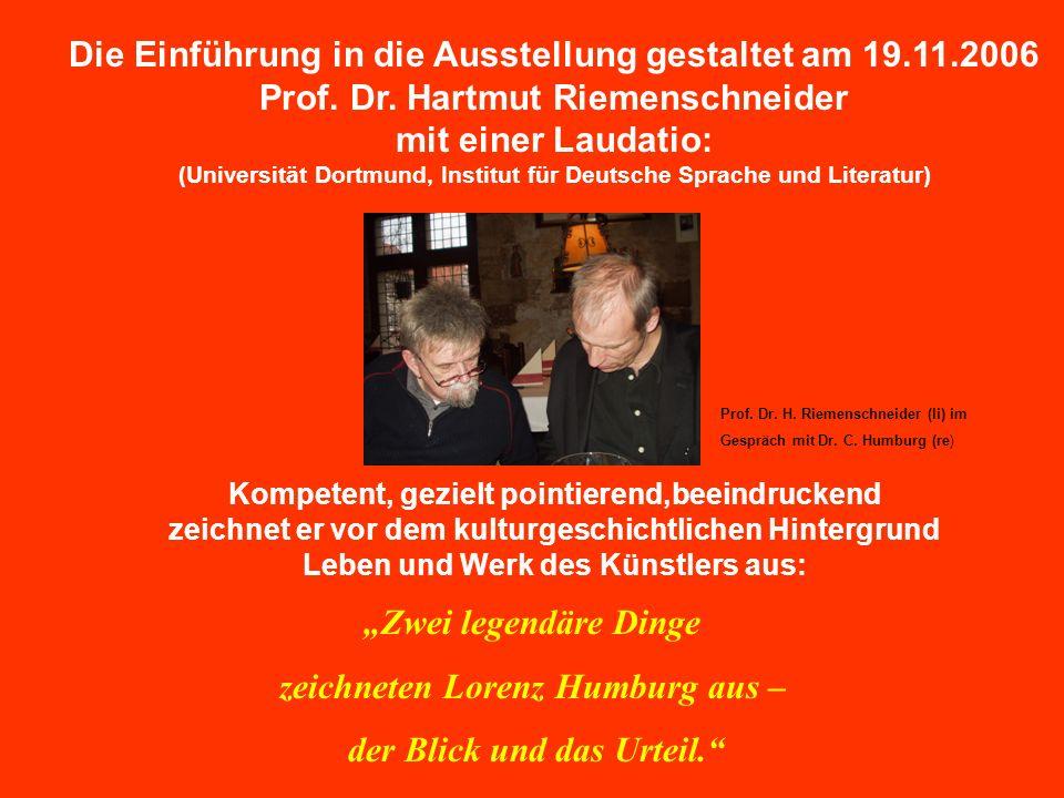 Die Einführung in die Ausstellung gestaltet am 19.11.2006