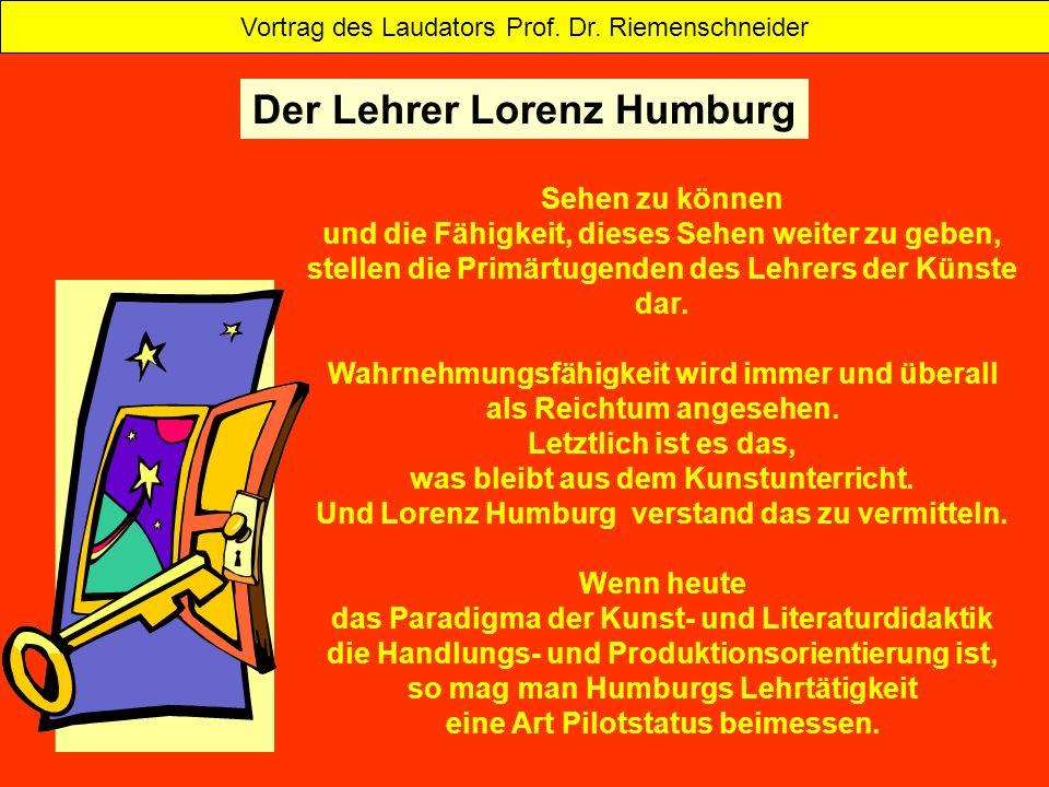 Der Lehrer Lorenz Humburg