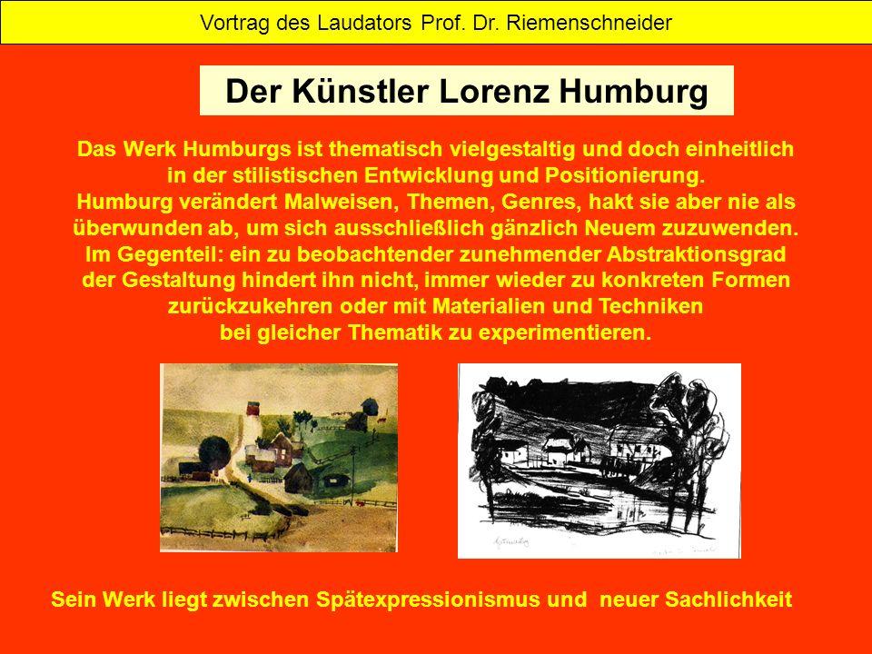 Der Künstler Lorenz Humburg