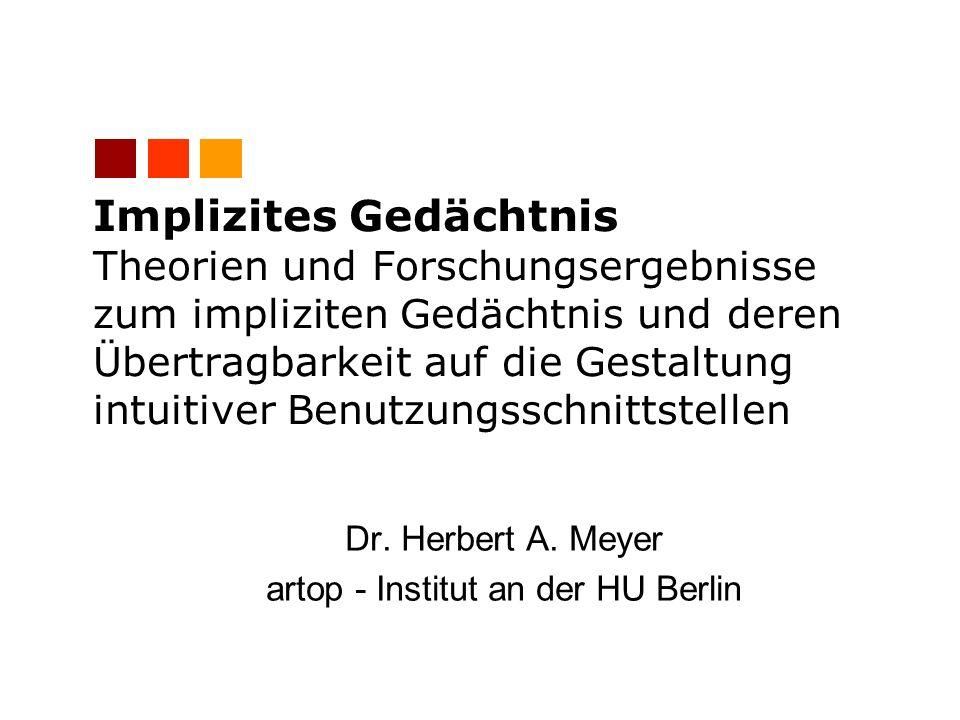 Dr. Herbert A. Meyer artop - Institut an der HU Berlin