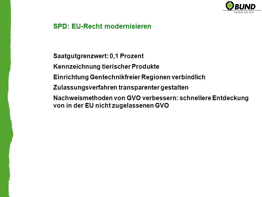 SPD: EU-Recht modernisieren