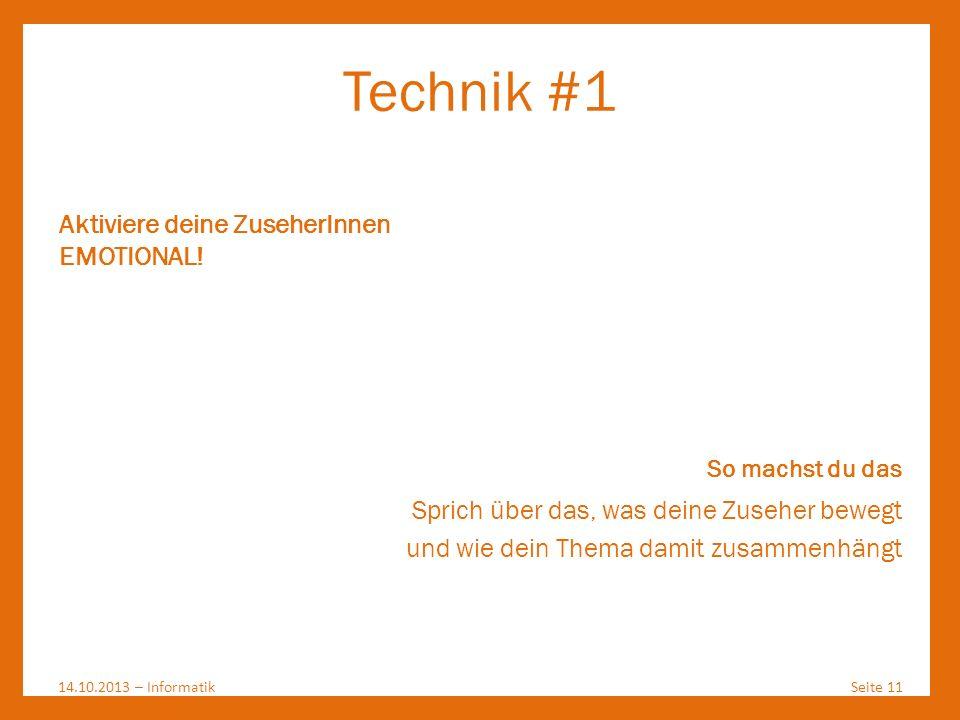 Technik #1 Aktiviere deine ZuseherInnen EMOTIONAL!