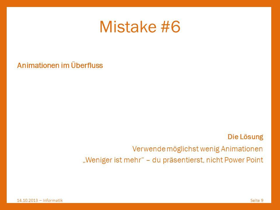 Mistake #6 Animationen im Überfluss