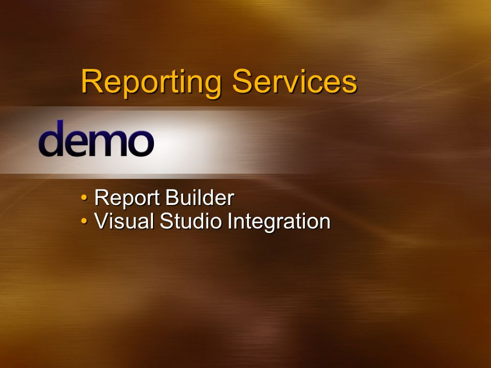 Report Builder Visual Studio Integration