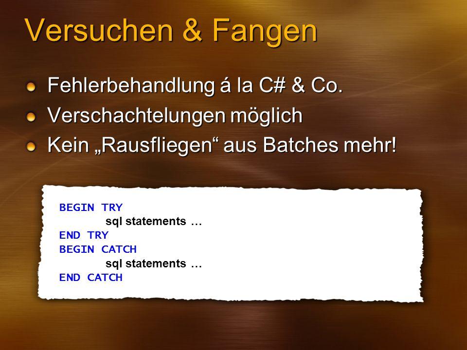 Versuchen & Fangen Fehlerbehandlung á la C# & Co.