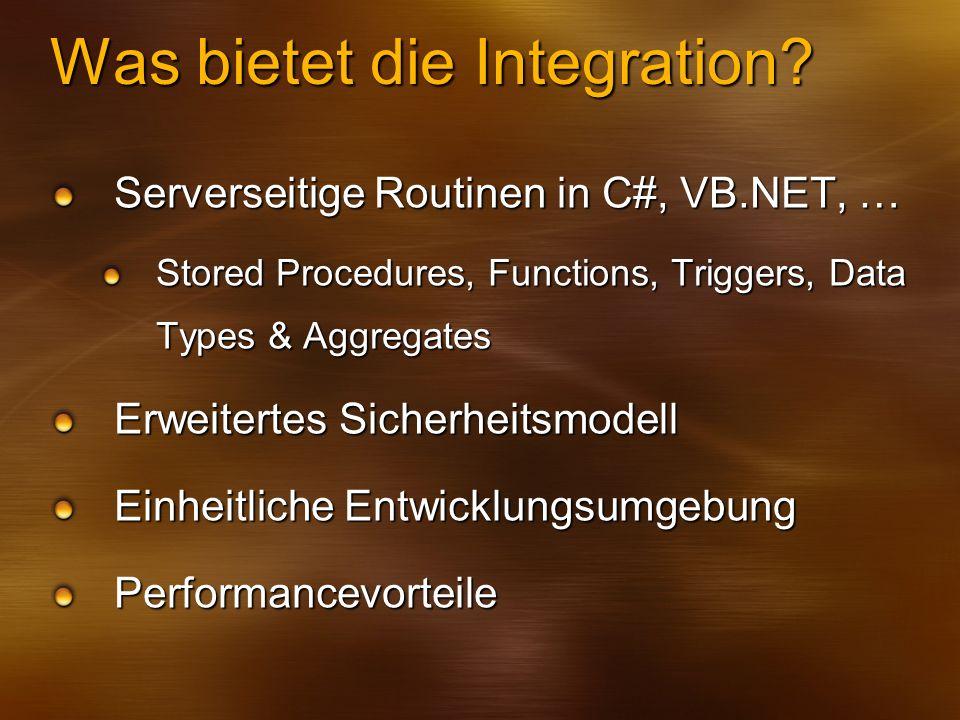 Was bietet die Integration