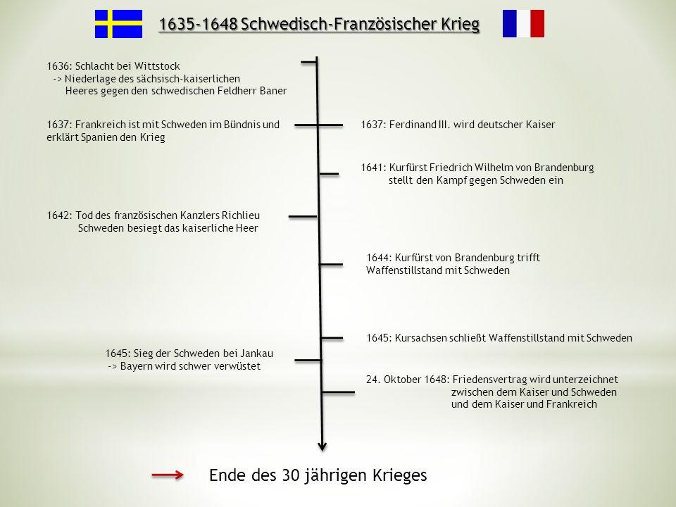 1635-1648 Schwedisch-Französischer Krieg