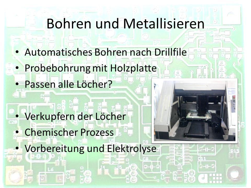 Bohren und Metallisieren