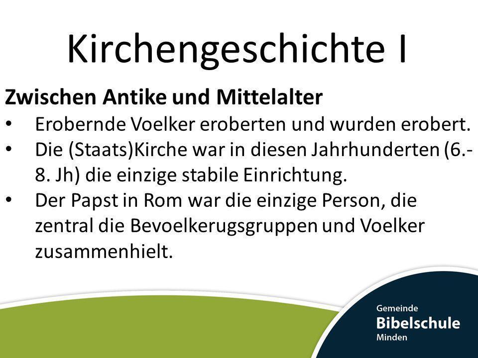 Kirchengeschichte I Zwischen Antike und Mittelalter