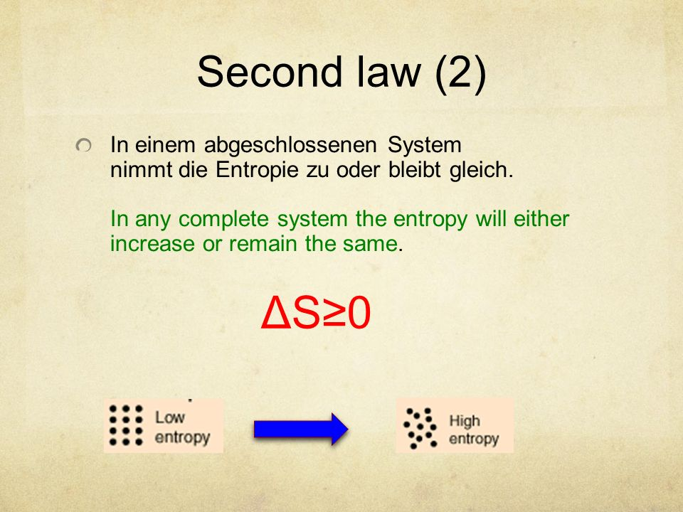 Second law (2)