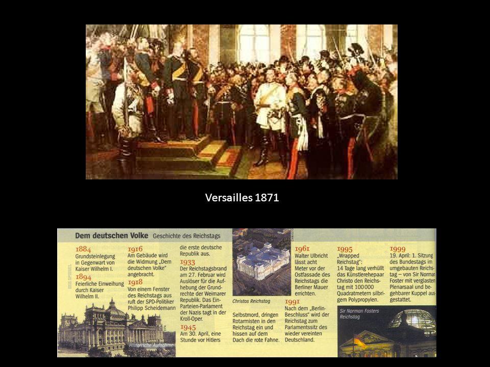 Versailles 1871 April 1871 bereits beschlossen, aber erhebliche Verzögerungen