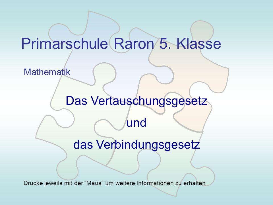 Primarschule Raron 5. Klasse