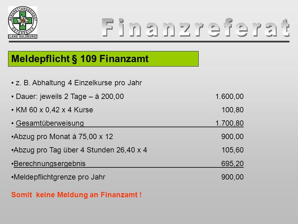 Meldepflicht § 109 Finanzamt