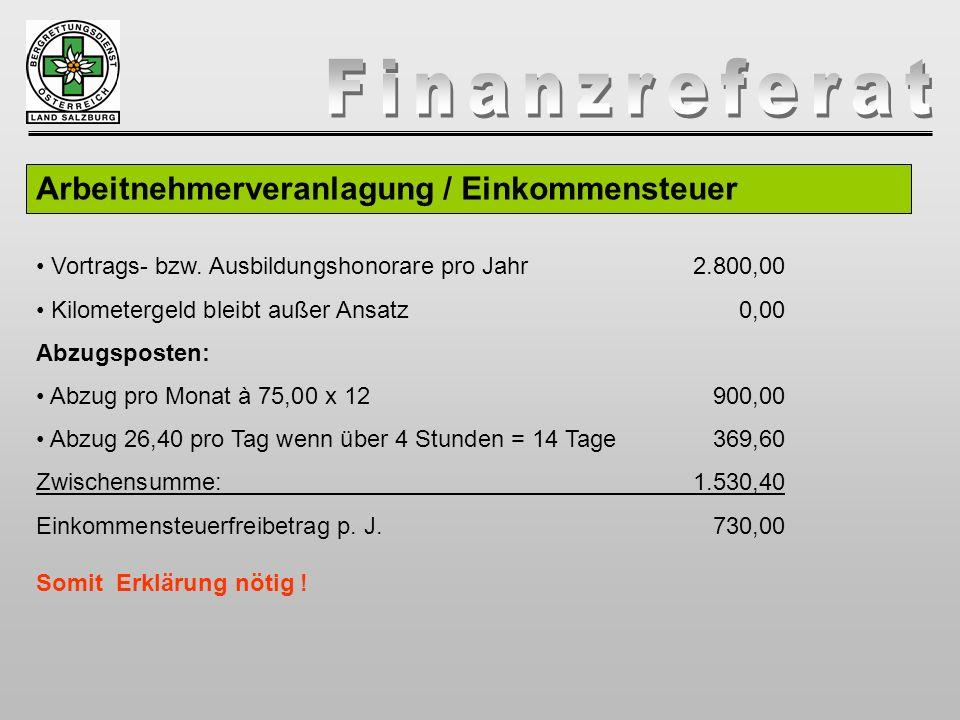 Arbeitnehmerveranlagung / Einkommensteuer