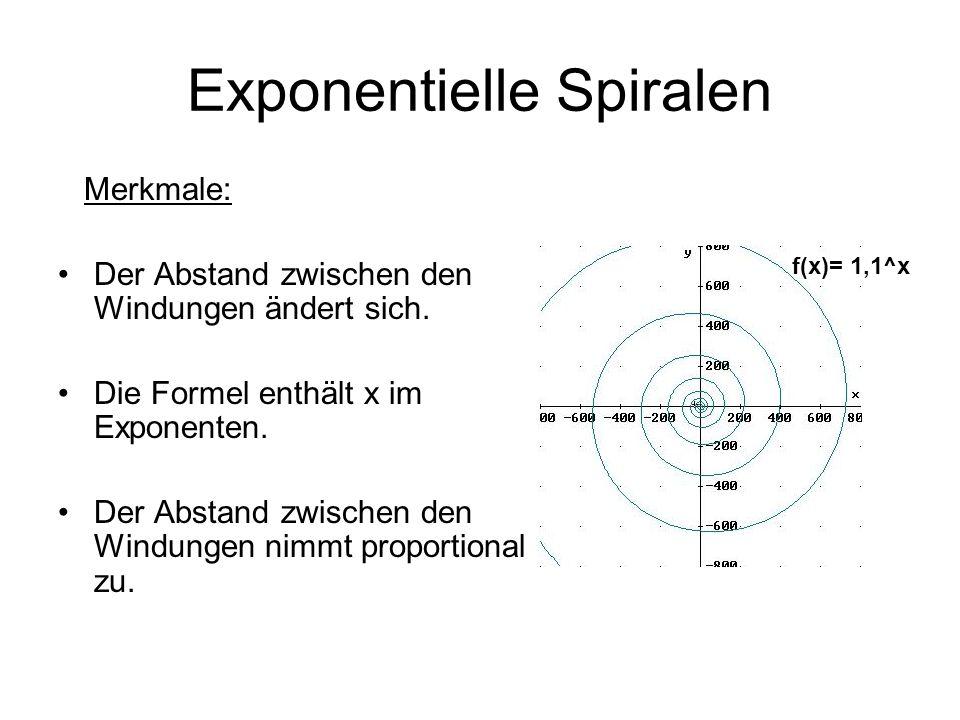 Exponentielle Spiralen