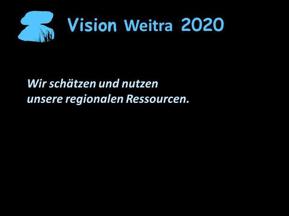 Vision Weitra 2020 Wir schätzen und nutzen