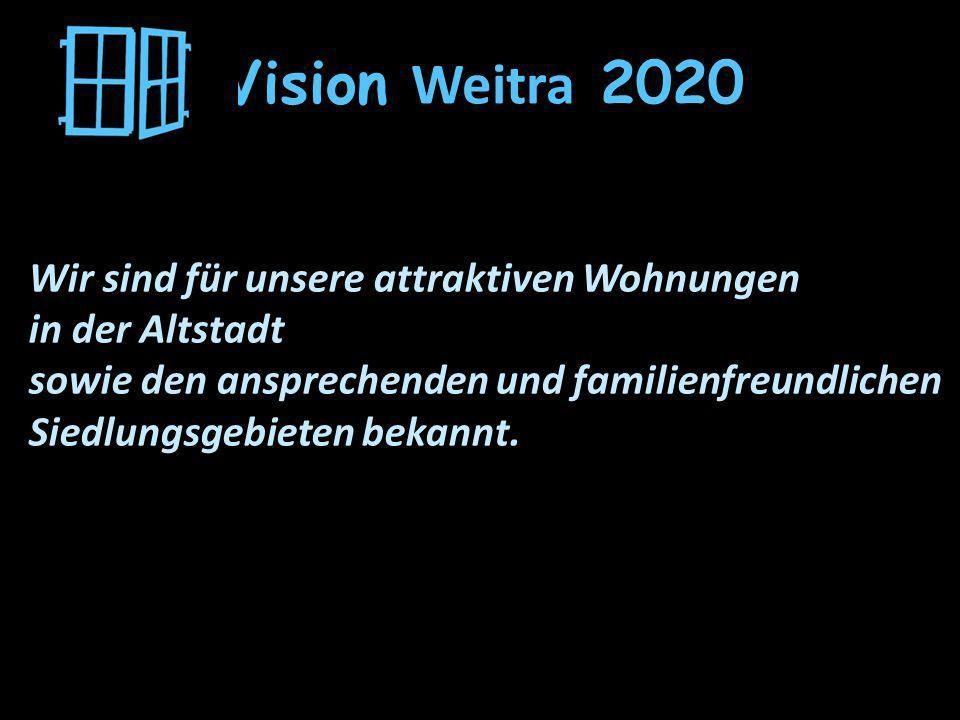 Vision Weitra 2020 Wir sind für unsere attraktiven Wohnungen