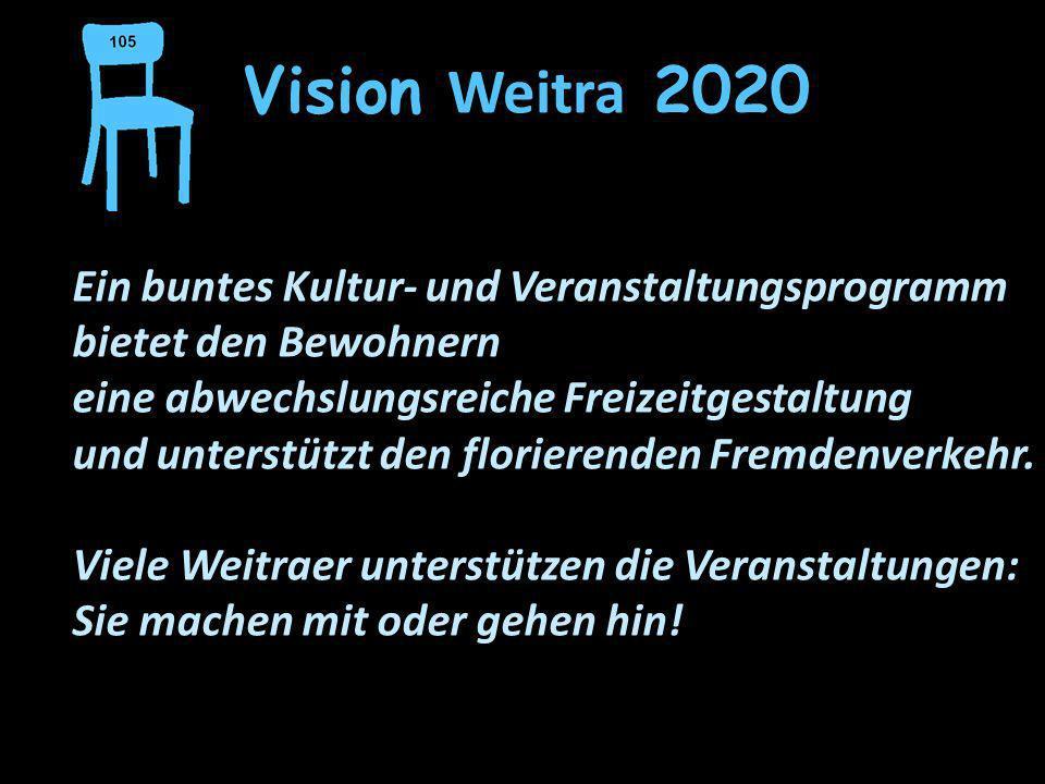 Vision Weitra 2020 Ein buntes Kultur- und Veranstaltungsprogramm bietet den Bewohnern. eine abwechslungsreiche Freizeitgestaltung.