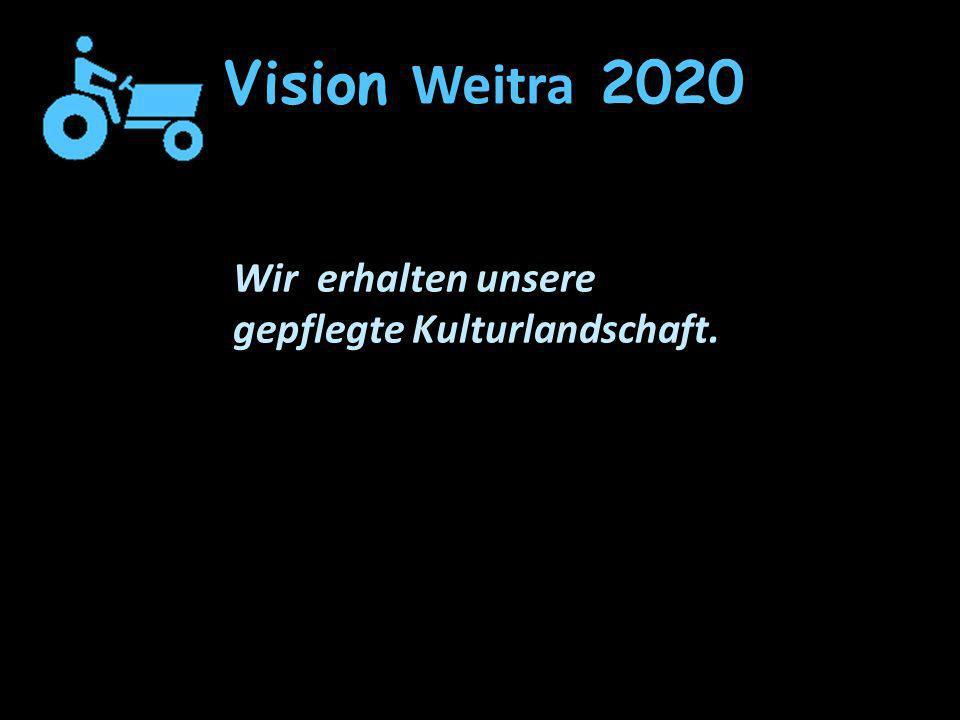 Vision Weitra 2020 Wir erhalten unsere gepflegte Kulturlandschaft.