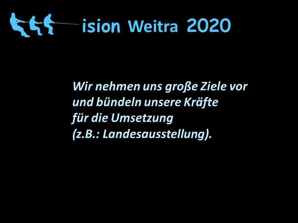 Vision Weitra 2020 Wir nehmen uns große Ziele vor