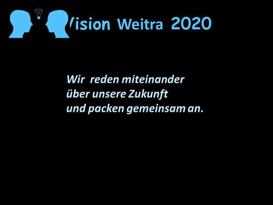 Vision Weitra 2020 Wir reden miteinander über unsere Zukunft