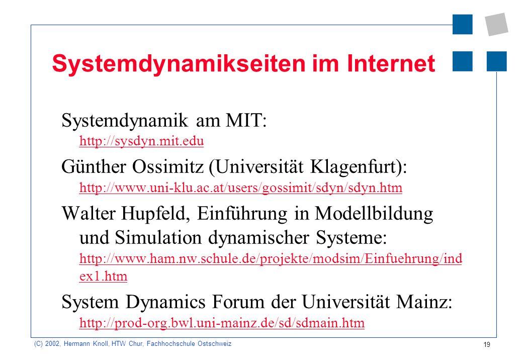 Systemdynamikseiten im Internet