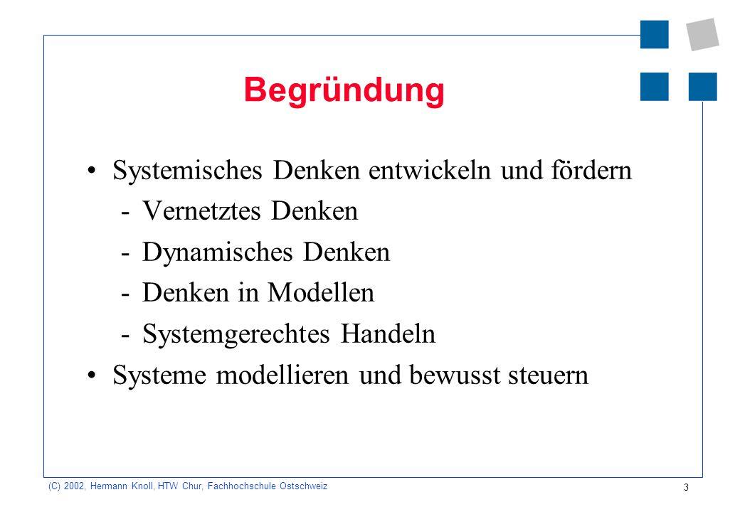 Begründung Systemisches Denken entwickeln und fördern