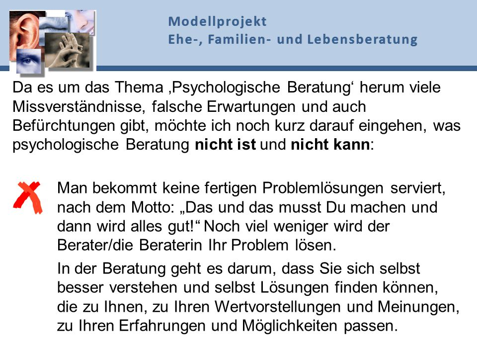 1. PSYCHOLOGISCHE BERATUNG 1. PSYCHOLOGISCHE BERATUNG
