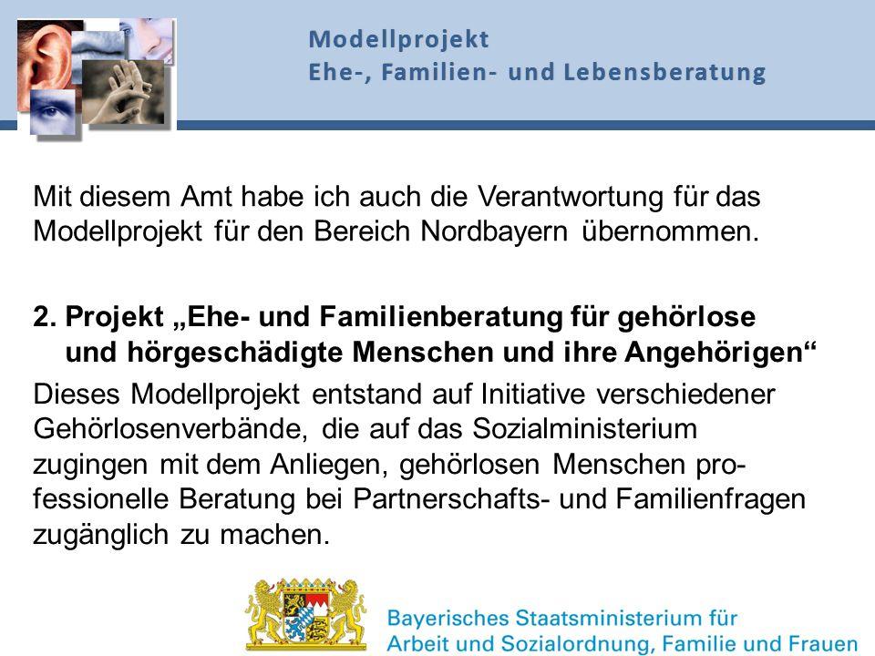 """2. Projekt """"Ehe- und Familienberatung für gehörlose"""