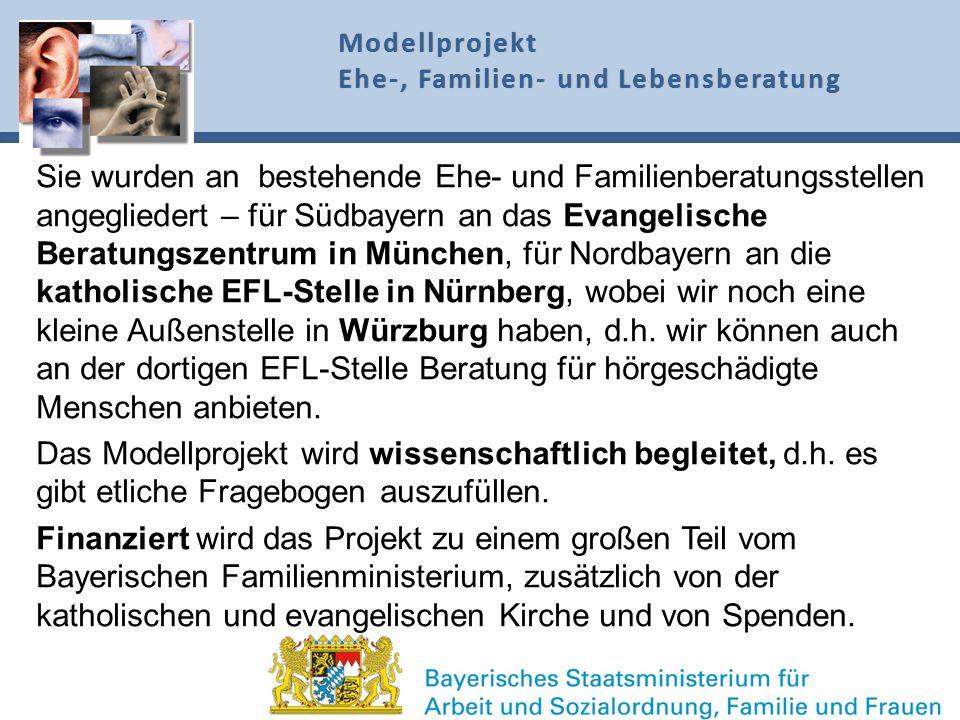 Modellprojekt Ehe-, Familien- und Lebensberatung.