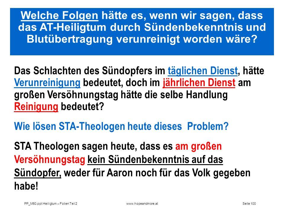 Wie lösen STA-Theologen heute dieses Problem