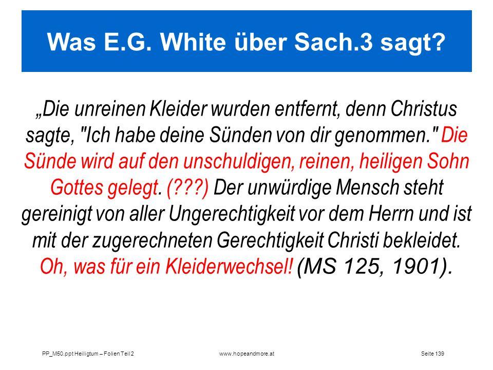Was E.G. White über Sach.3 sagt