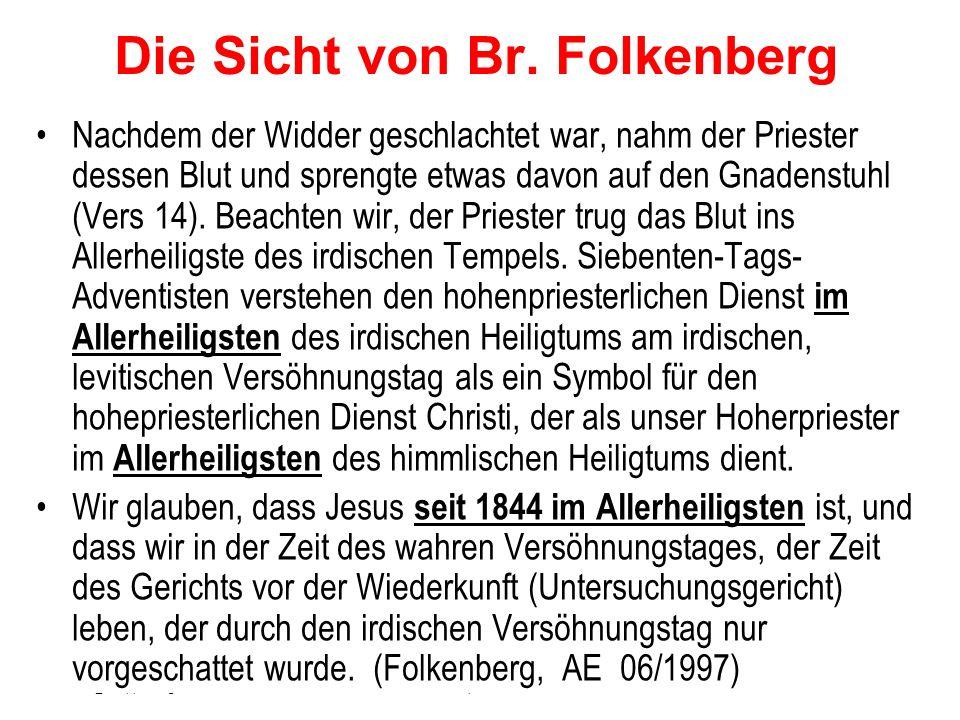 Die Sicht von Br. Folkenberg