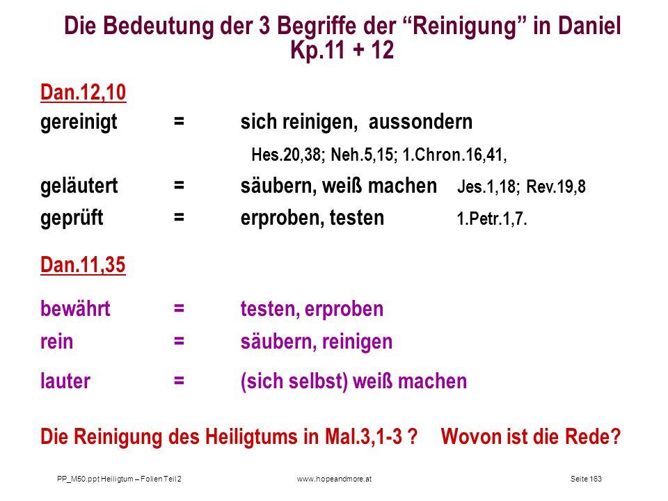 Die Bedeutung der 3 Begriffe der Reinigung in Daniel Kp.11 + 12
