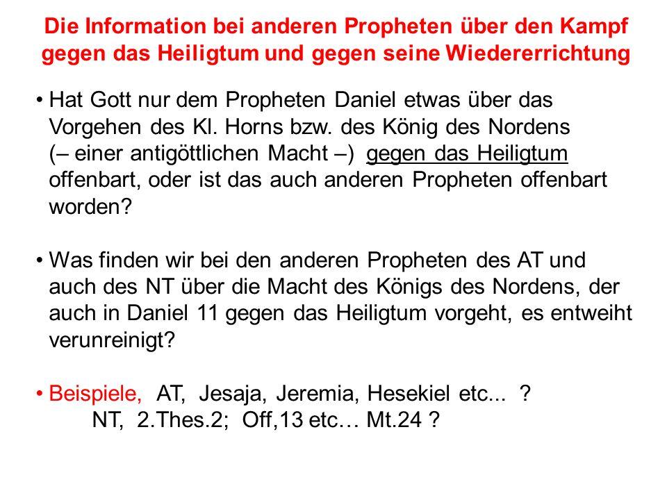 Beispiele, AT, Jesaja, Jeremia, Hesekiel etc...
