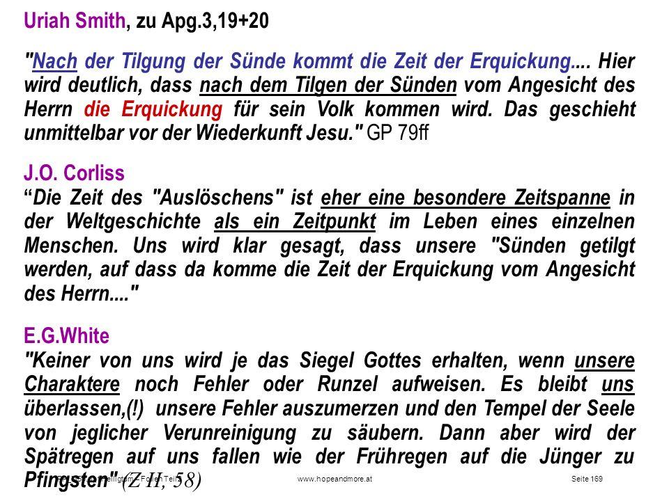 Uriah Smith, zu Apg.3,19+20