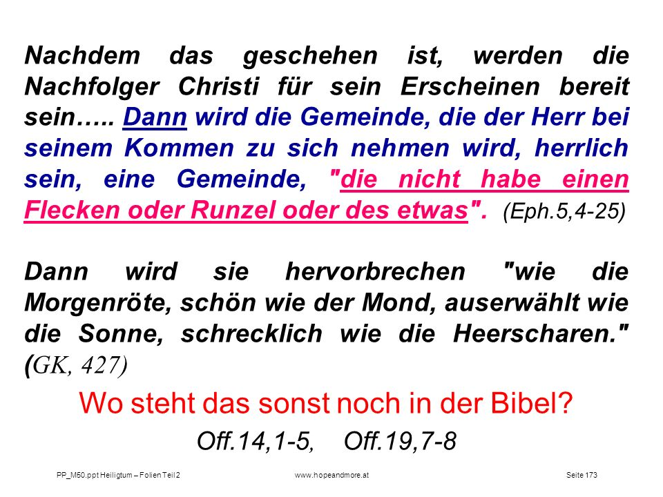 Wo steht das sonst noch in der Bibel