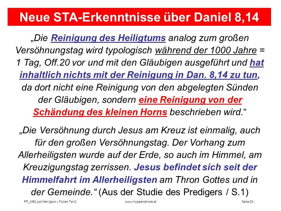 Neue STA-Erkenntnisse über Daniel 8,14