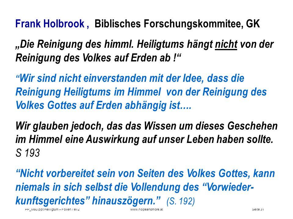 Frank Holbrook , Biblisches Forschungskommitee, GK
