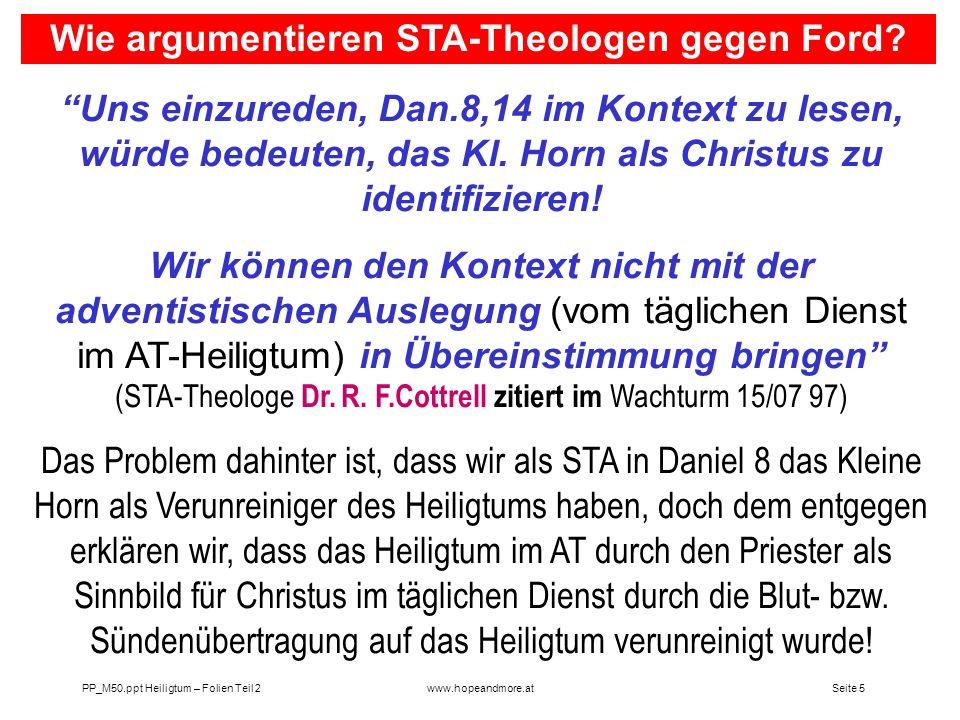 Wie argumentieren STA-Theologen gegen Ford
