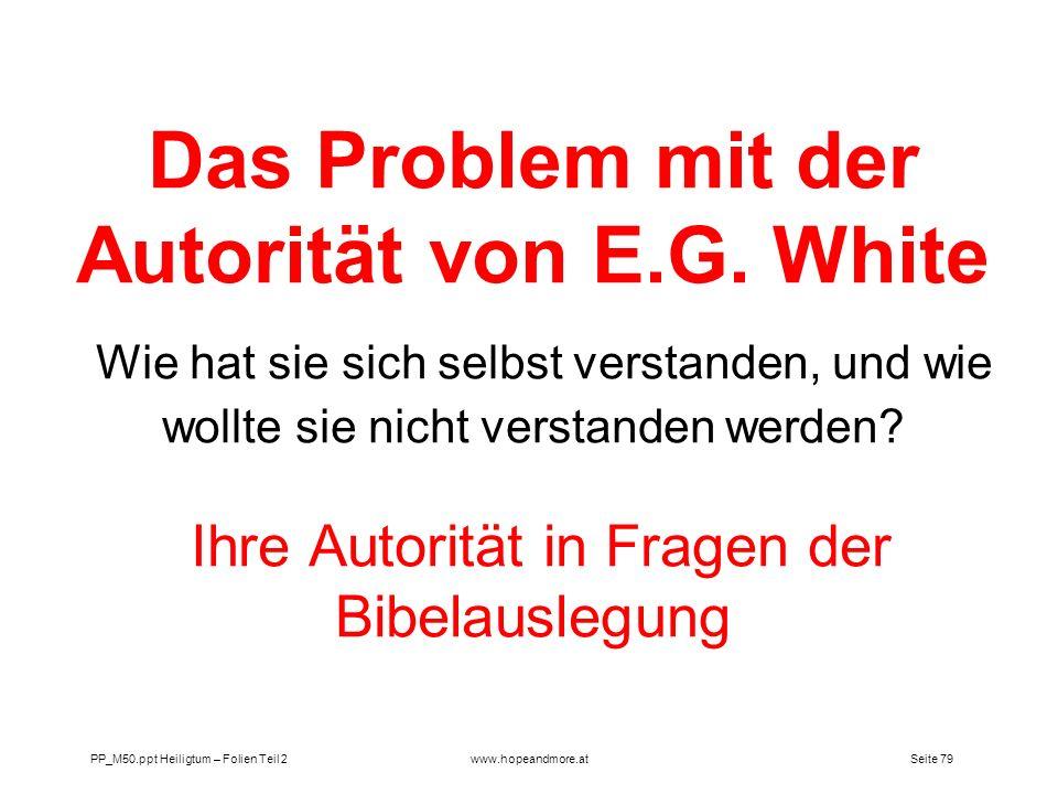 Das Problem mit der Autorität von E. G