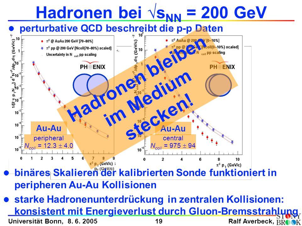 Hadronen bleiben im Medium stecken!