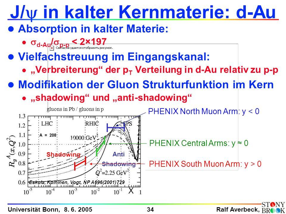 J/y in kalter Kernmaterie: d-Au