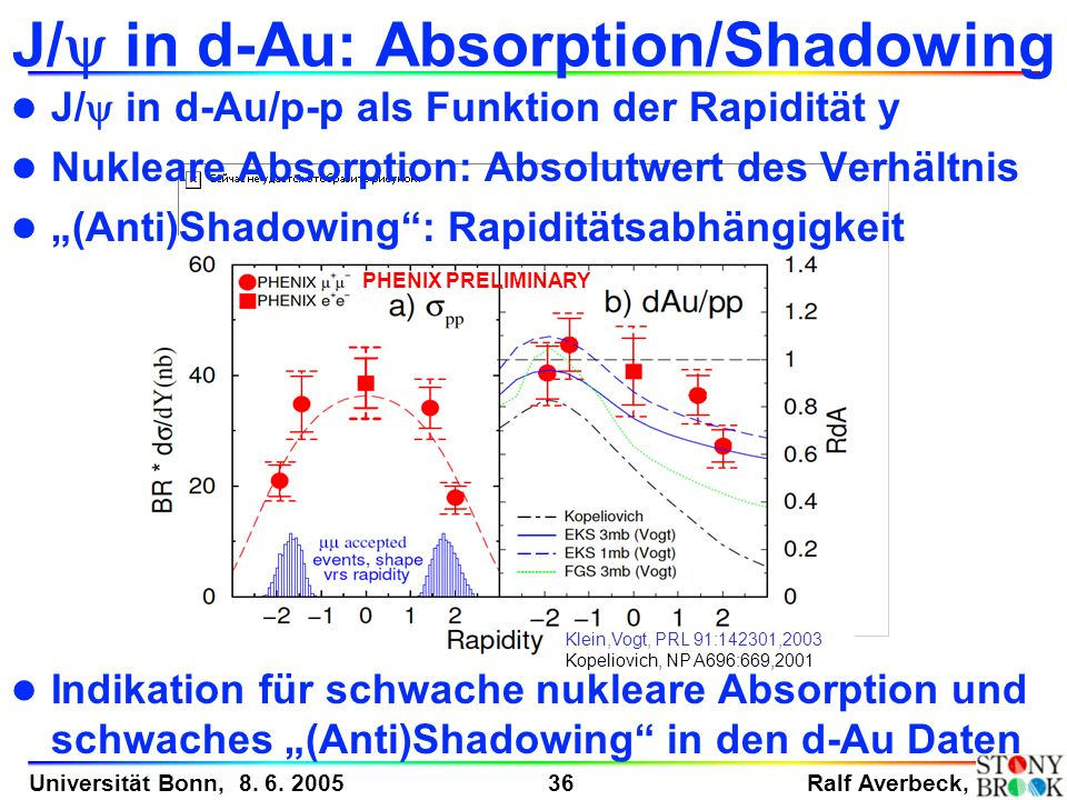 J/y in d-Au: Absorption/Shadowing