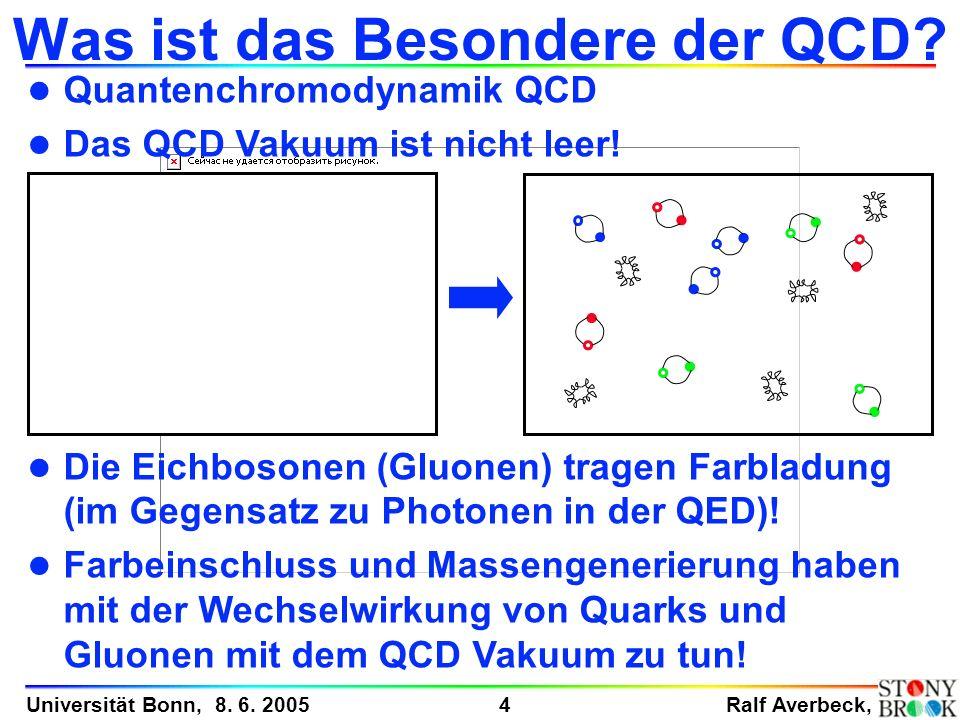 Was ist das Besondere der QCD