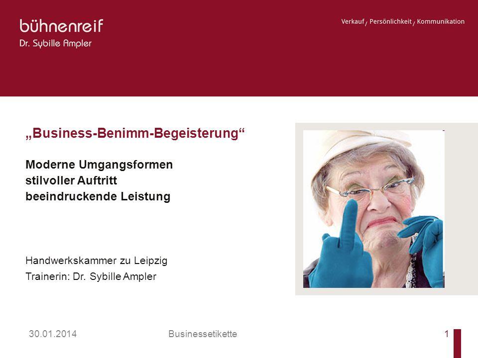30.01.2014 Businessetikette