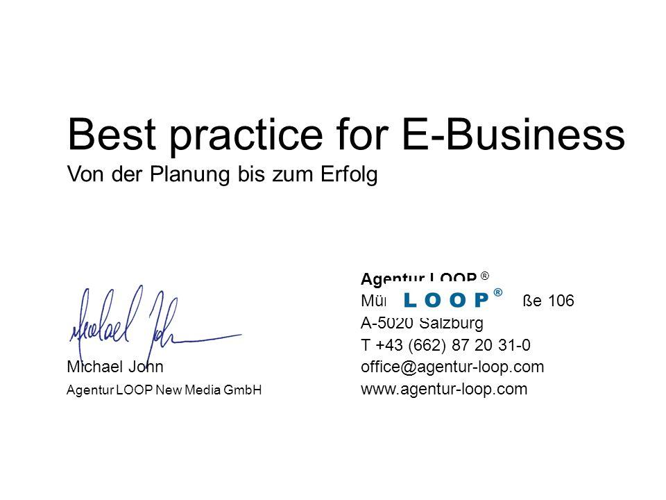 Best practice for E-Business Von der Planung bis zum Erfolg