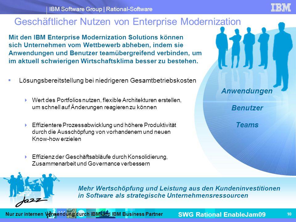Geschäftlicher Nutzen von Enterprise Modernization